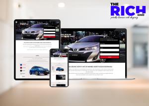 portfolio landing page penjual kereta