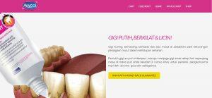 contoh landing page produk kesihatan