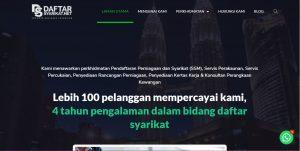 Rekaan Laman Web Daftar Syarikat Sdn Bhd